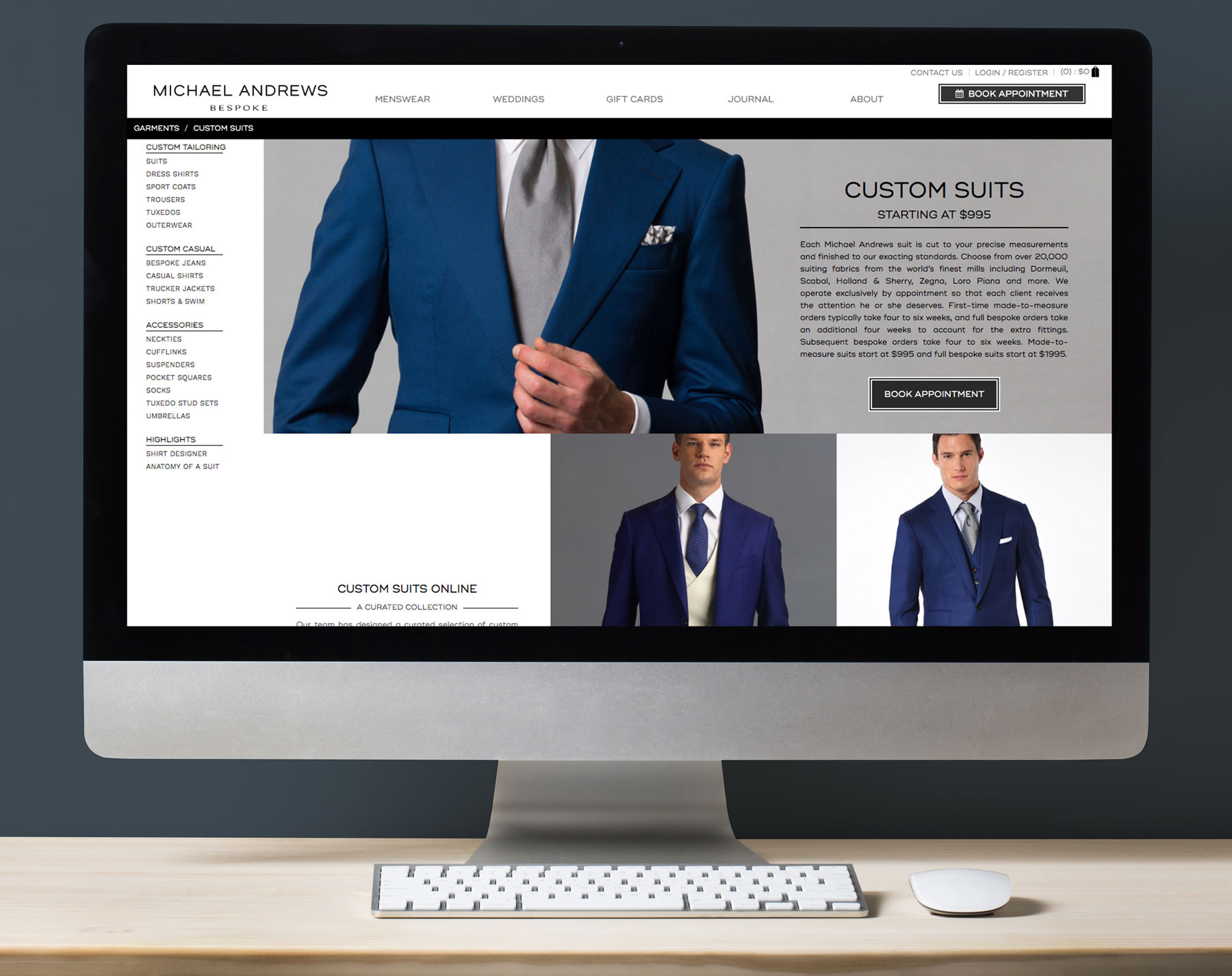 Create a more user friendly shopping experience while showcasing the luxuriousness of the brand.