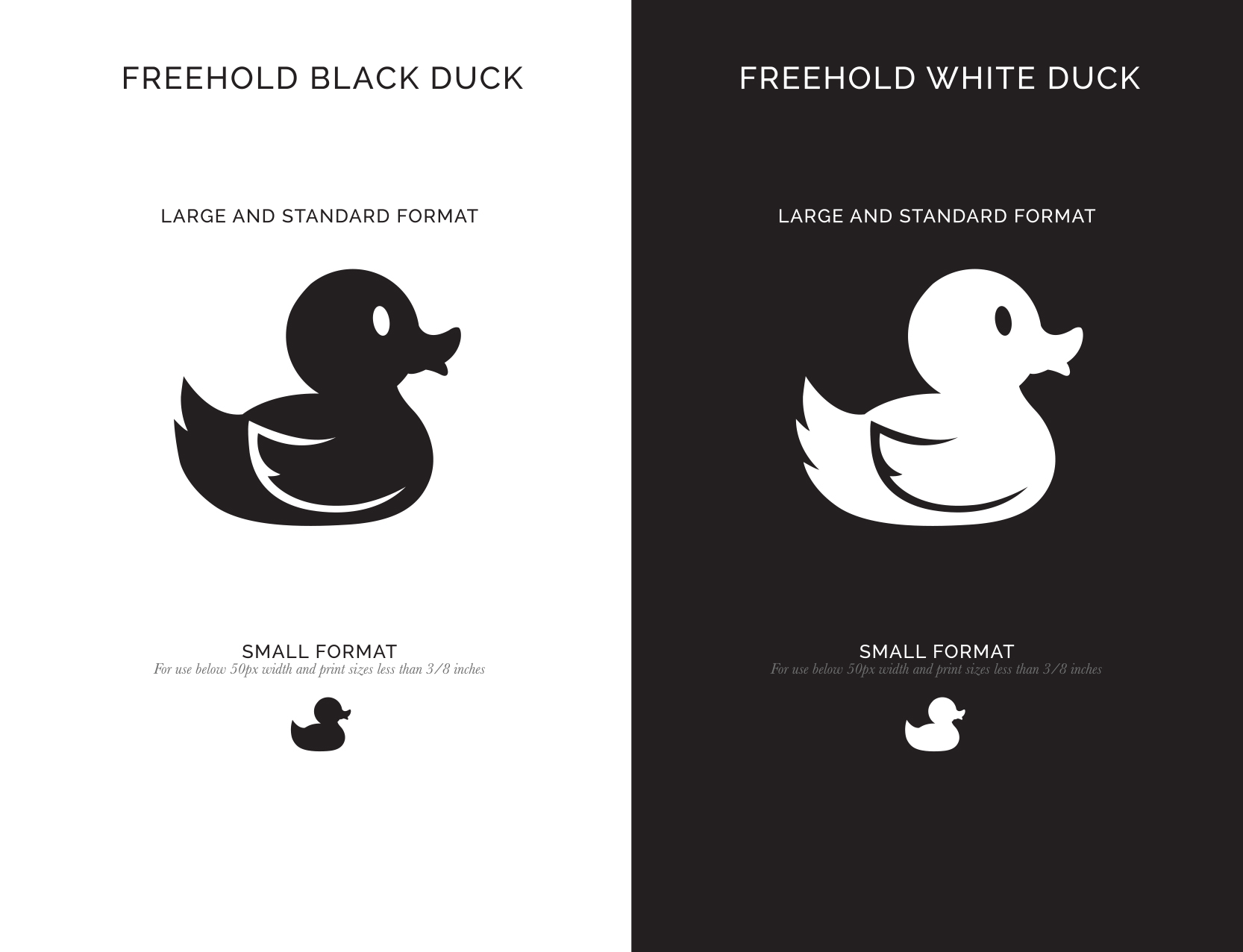 Branding of original Rubber Ducky design for the Freehold logo and promotional materials
