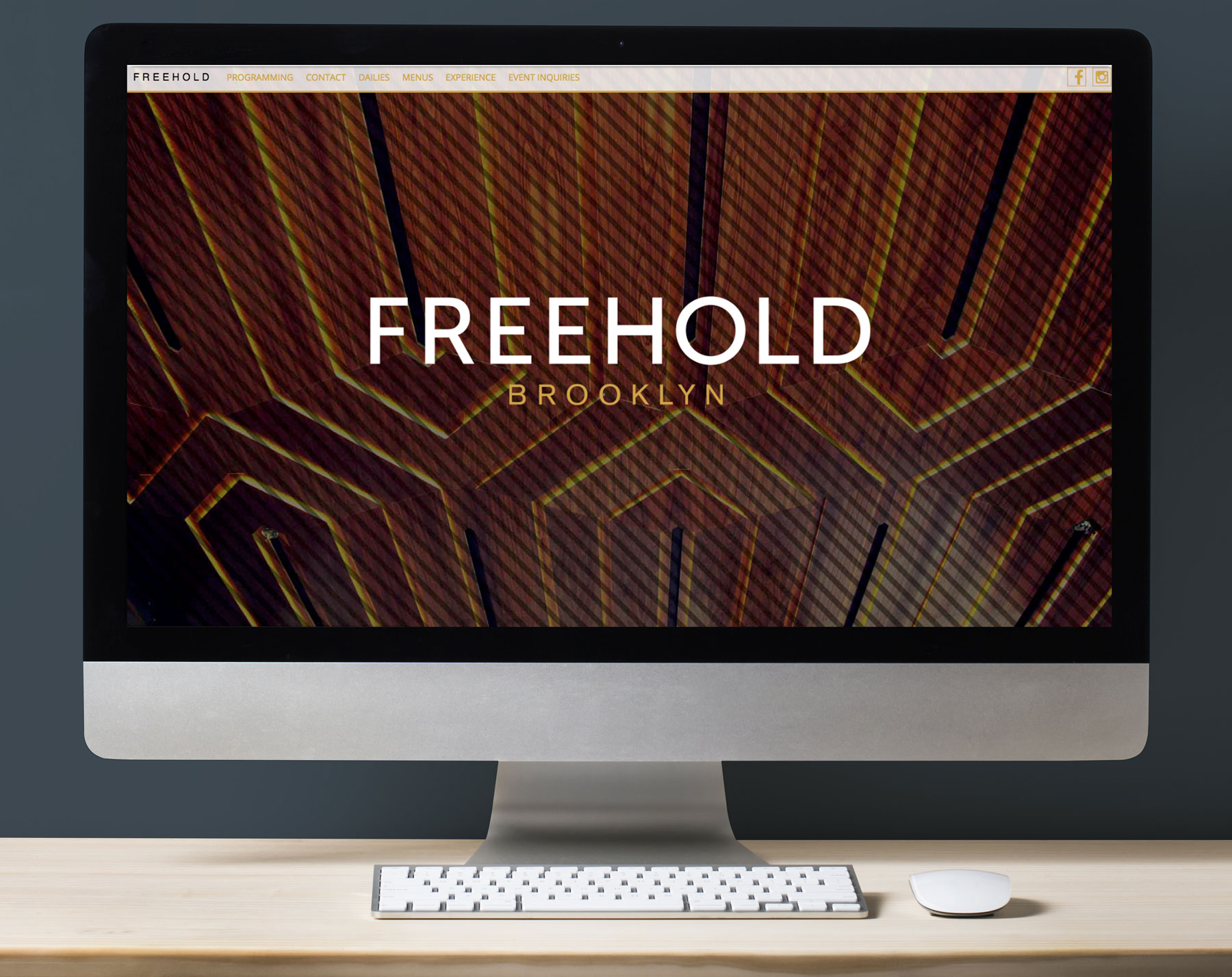Design and implementation of the Freehold website