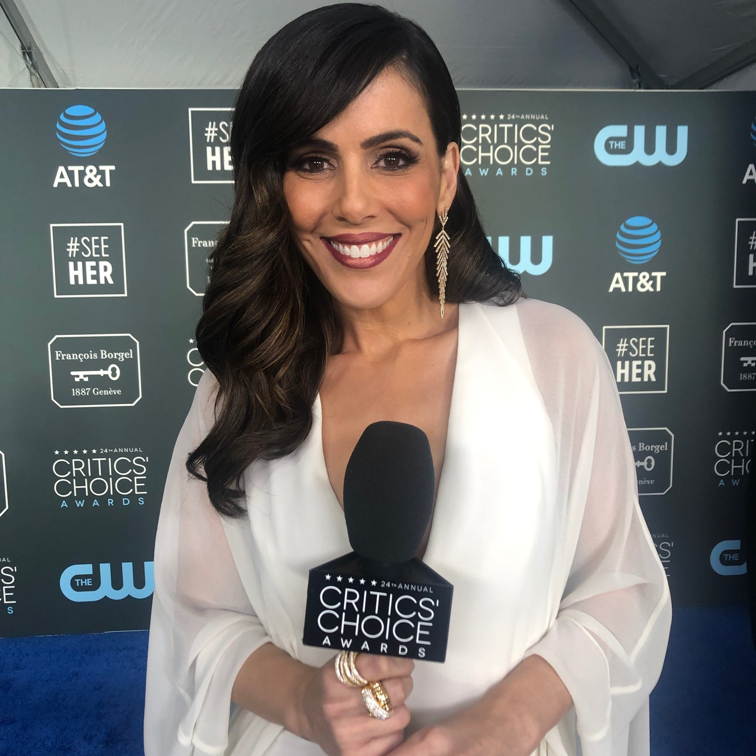 Image of Megan Henderson at Critics' Choice Awards link to television and film services