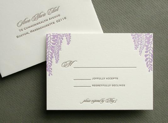WISTERIA response card