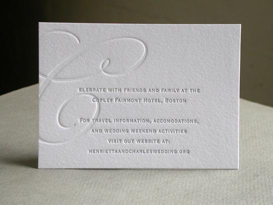 SWASH INITIAL reception card