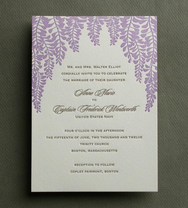 WISTERIA invitation