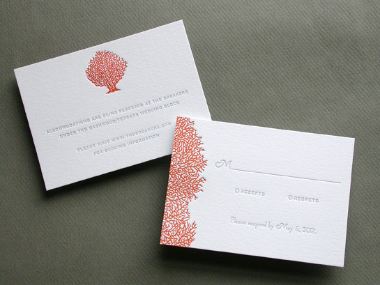 CORAL response and reception cards