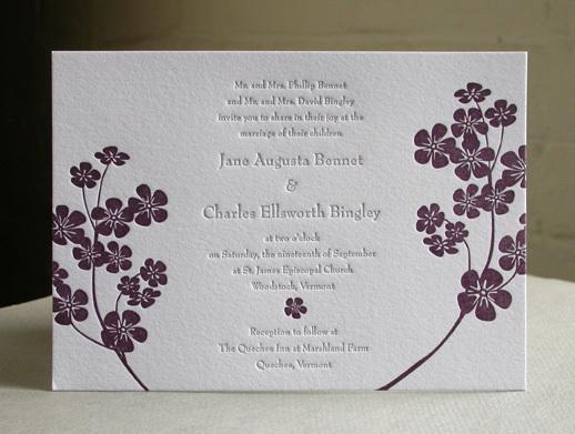 PURPLE FLOWERS invitation