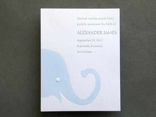 BABY ELEPHANT BLUE announcement