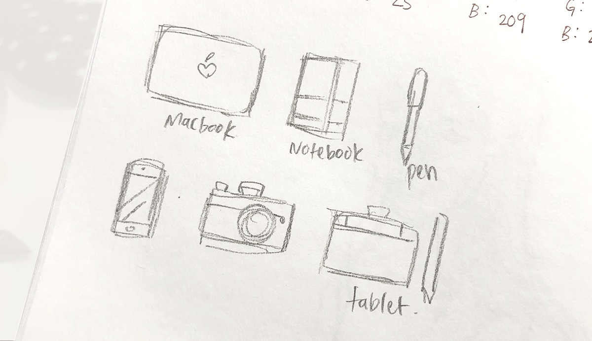 Original sketches and layout