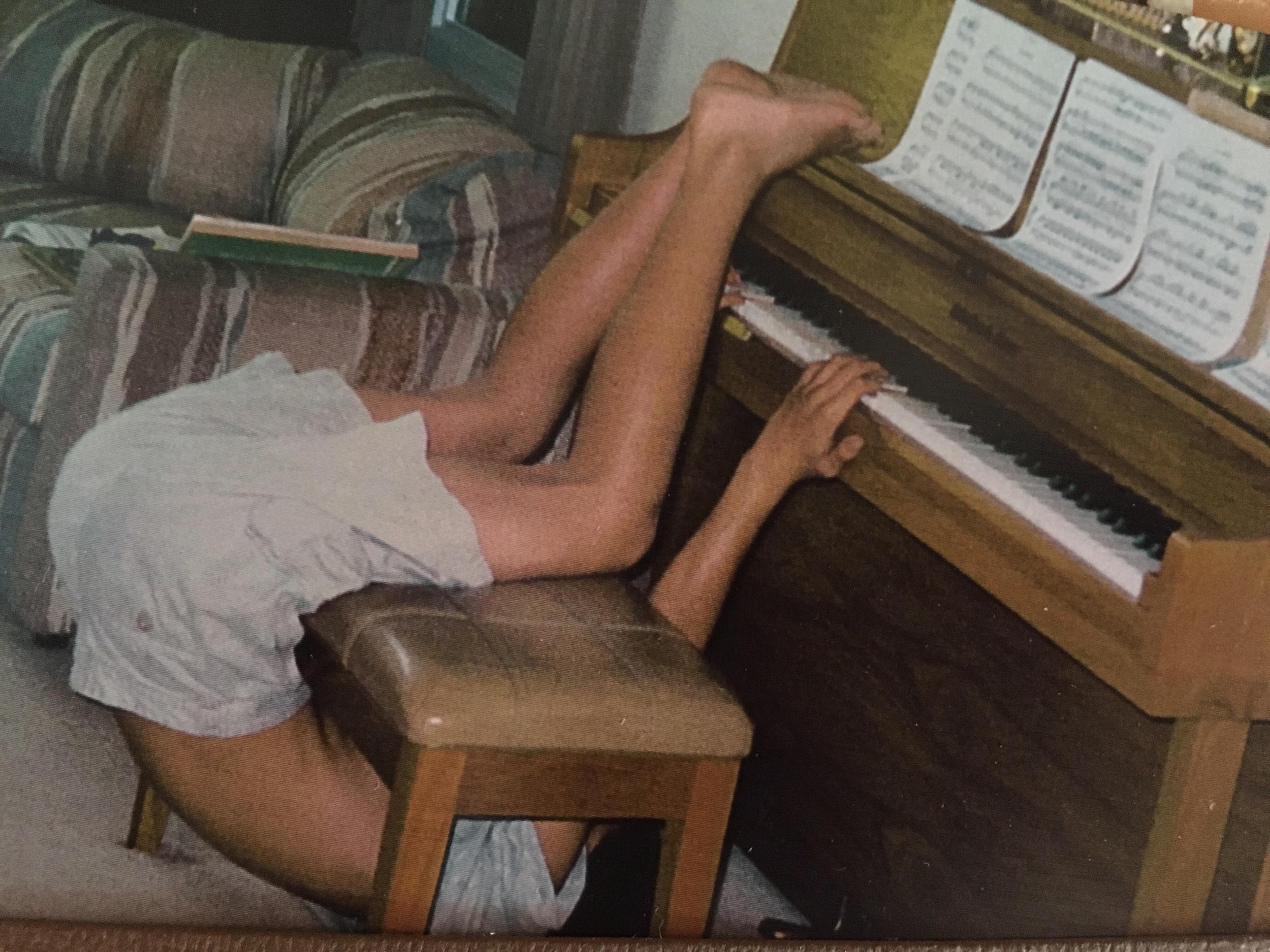 The piano antics of preteen John.