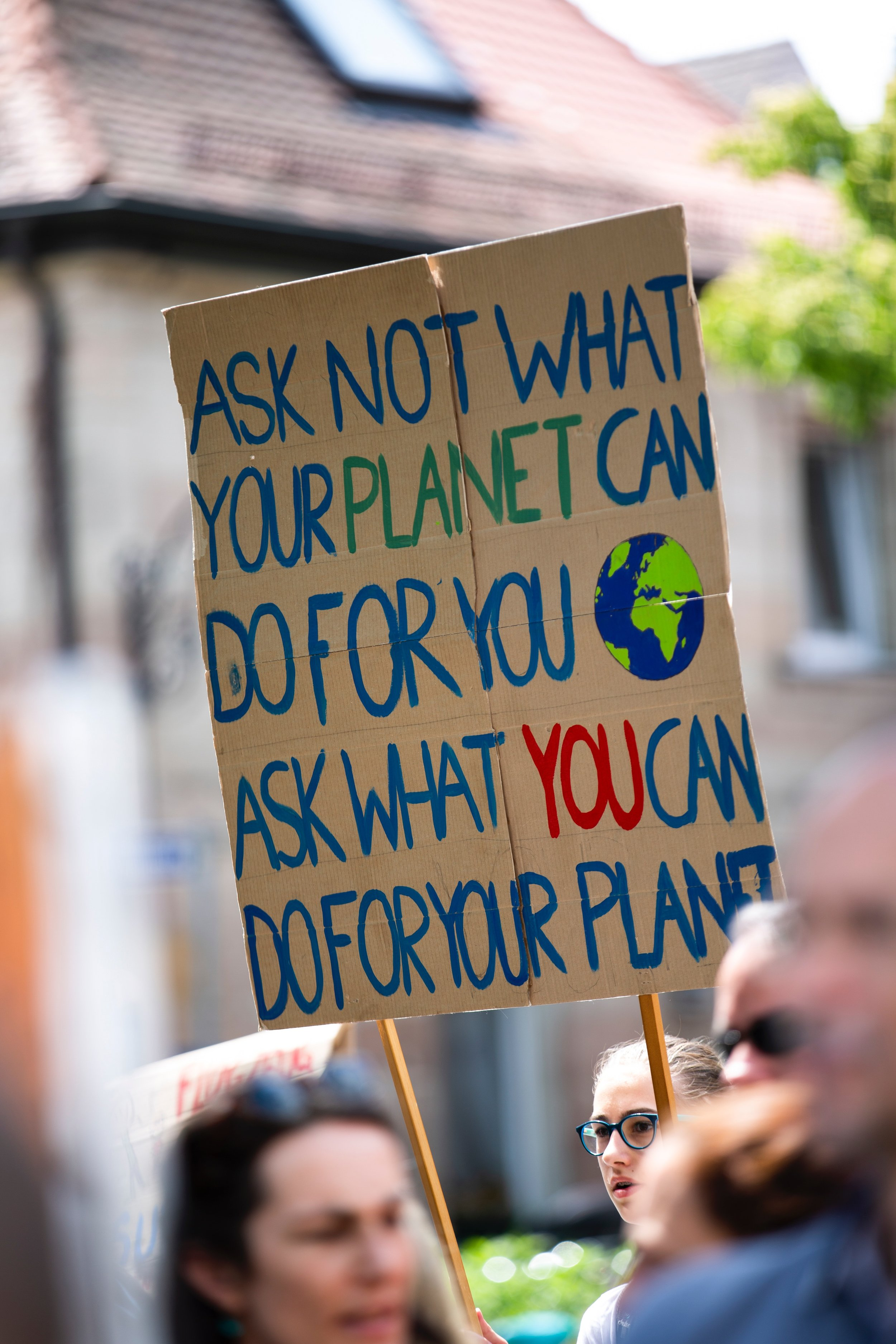 Earth activist sign