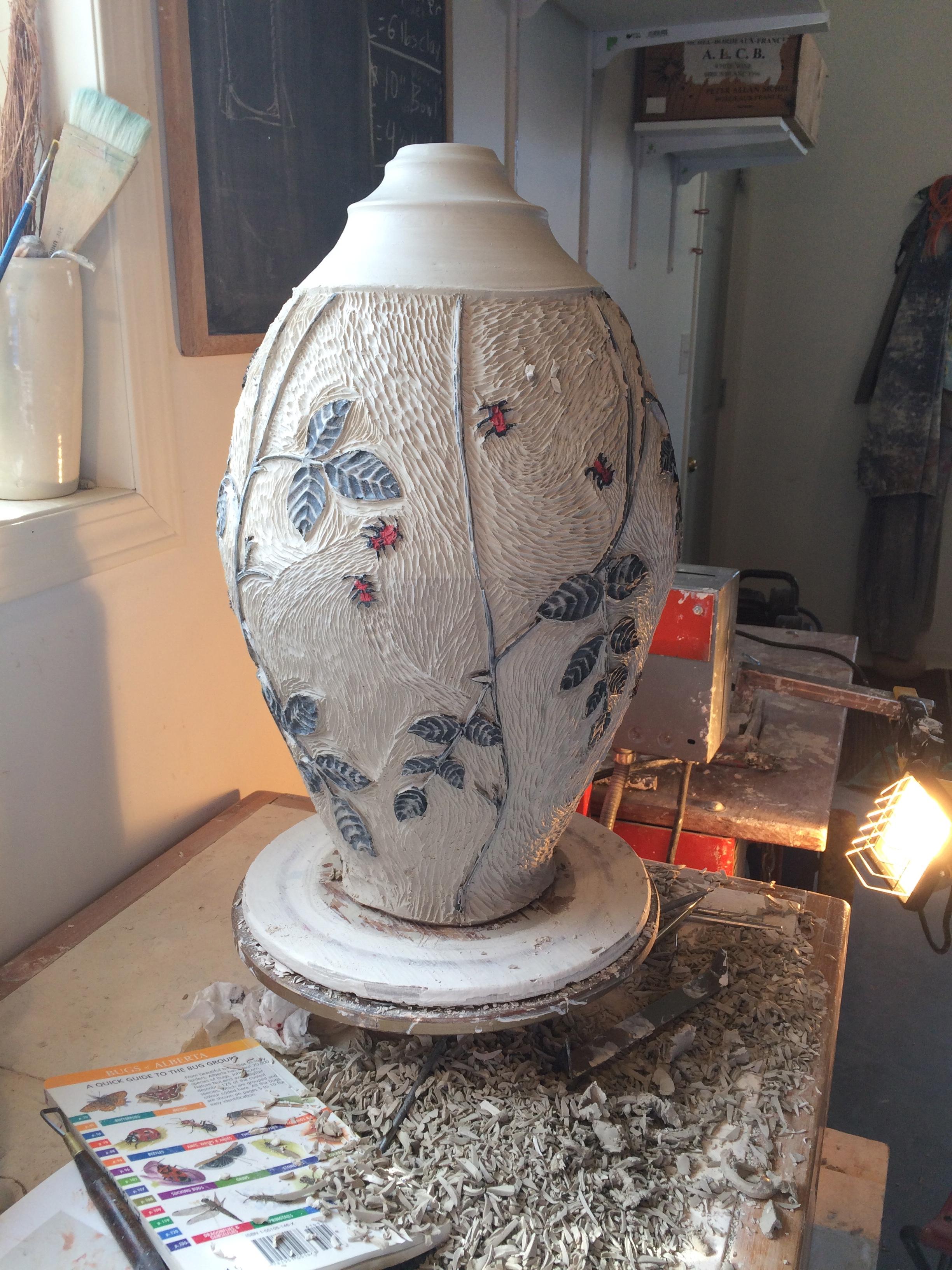 bug pot in progress