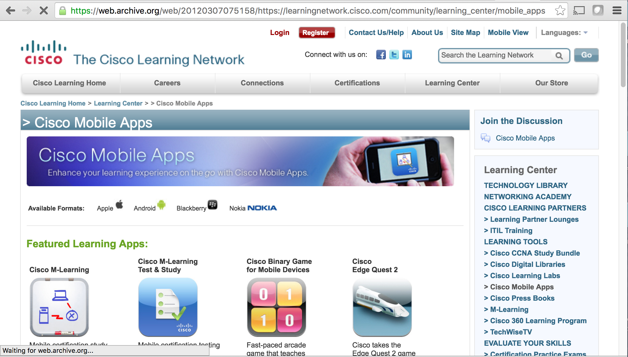Mobile Apps Page - During the early days of the iPhone, mobile app-based learning was already booming. To improve the UX, we dedicated a section to finding all mobile-based learning modules / games / apps in one space. I was responsible for all icons, graphics, page layout and content updates.
