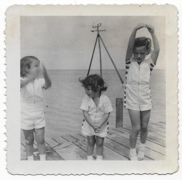 Practicing ballet; Heather, Laurey, Lucinda