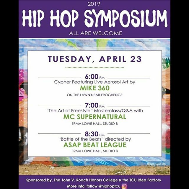 Tomorrow is the day! Our featured TCU producers will compete for the chance to be ASAP Beat League's College Lights and Beats Champion! See you in conjuction with the Hip Hop Symposium at 8:30 PM, April 23rd in Erma Lowe Studio B. . . . . #TexasChistianUniversity #producer #beatmaker #asapbeatleague #beatbattle #hiphopmusic #competition #musicindustry #beats #musicproduction #beatmakers #artistdevelopment #producerlife #flstudio #instrumental #beatstars #logic #akai #machinemasters #brand #trapmusic #producergrind #musicartist #dallasproducers #dallasbeats #deepellum #producers #musicproducer #beatbattle