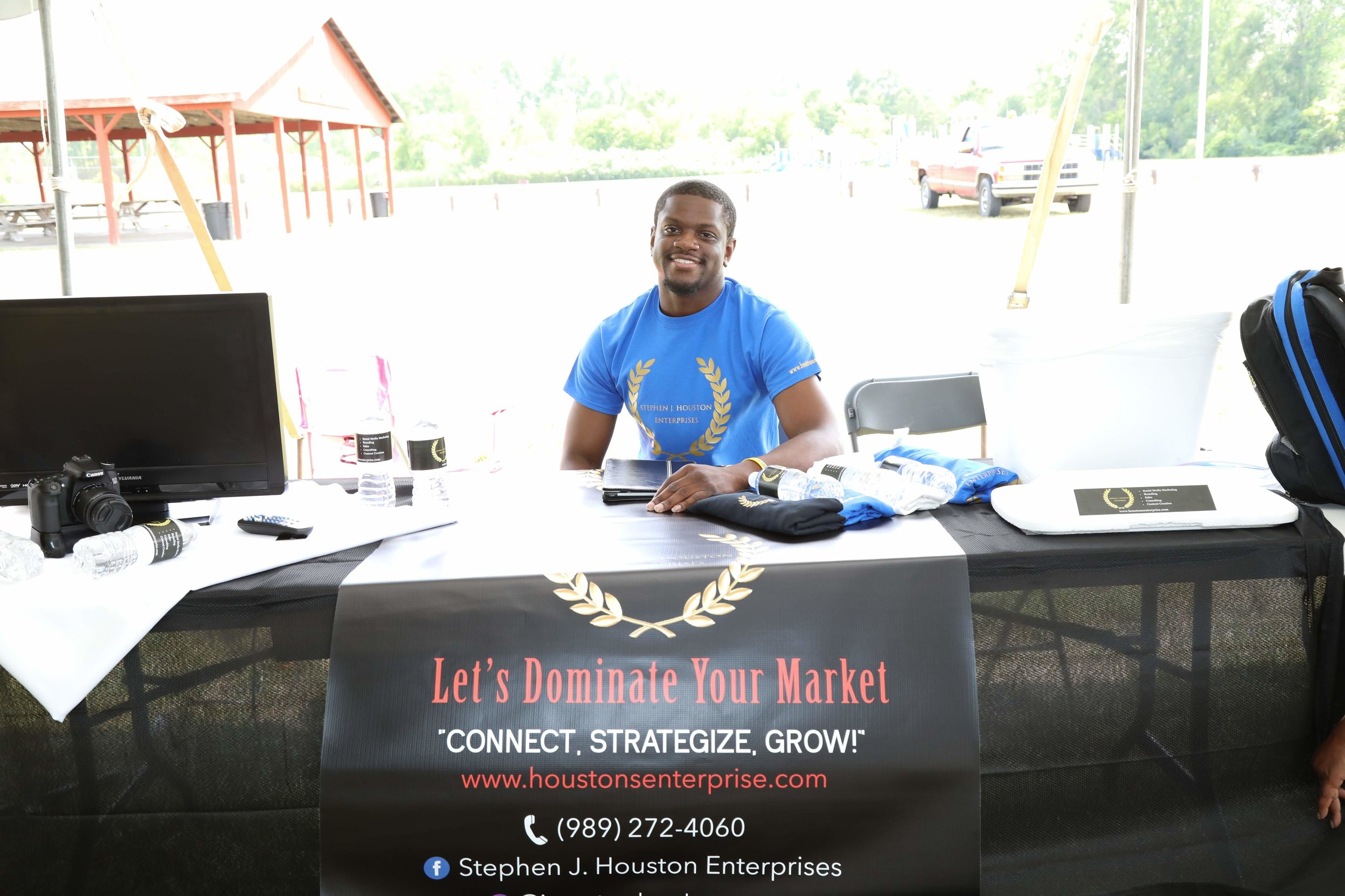Meet The Owner:  I am Stephen Houston! Graduate from Saginaw Valley State University where I obtained my Bachelor of Arts in Communications & Marketing. I have study abroad experience where I have had the opportunity to study foreign businesses in Europe. I have a passion for people & putting their business on display. Enough about me, let's talk about YOU!