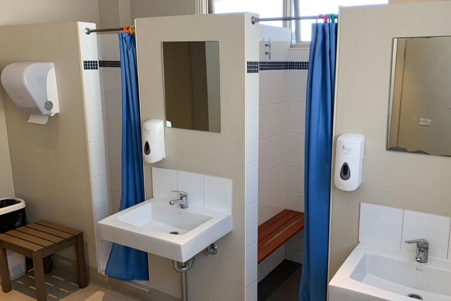 Toilet, shower & change rooms - These facilities are accessible 24 hours a day via a security key provided.