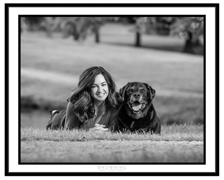woman with dog columbus ohio
