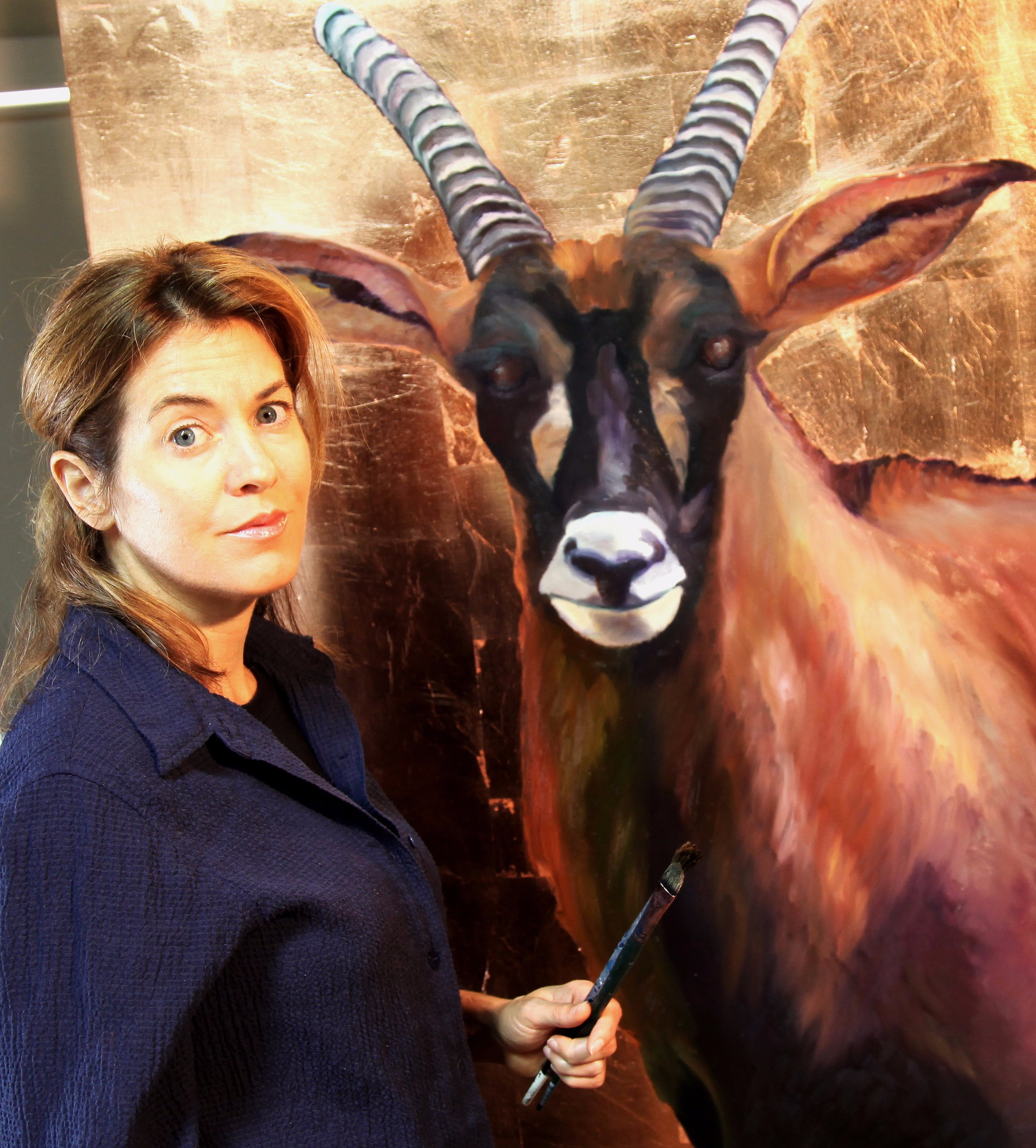 Nadine Terk with Roan Antelope from Endangered Species Project 2013
