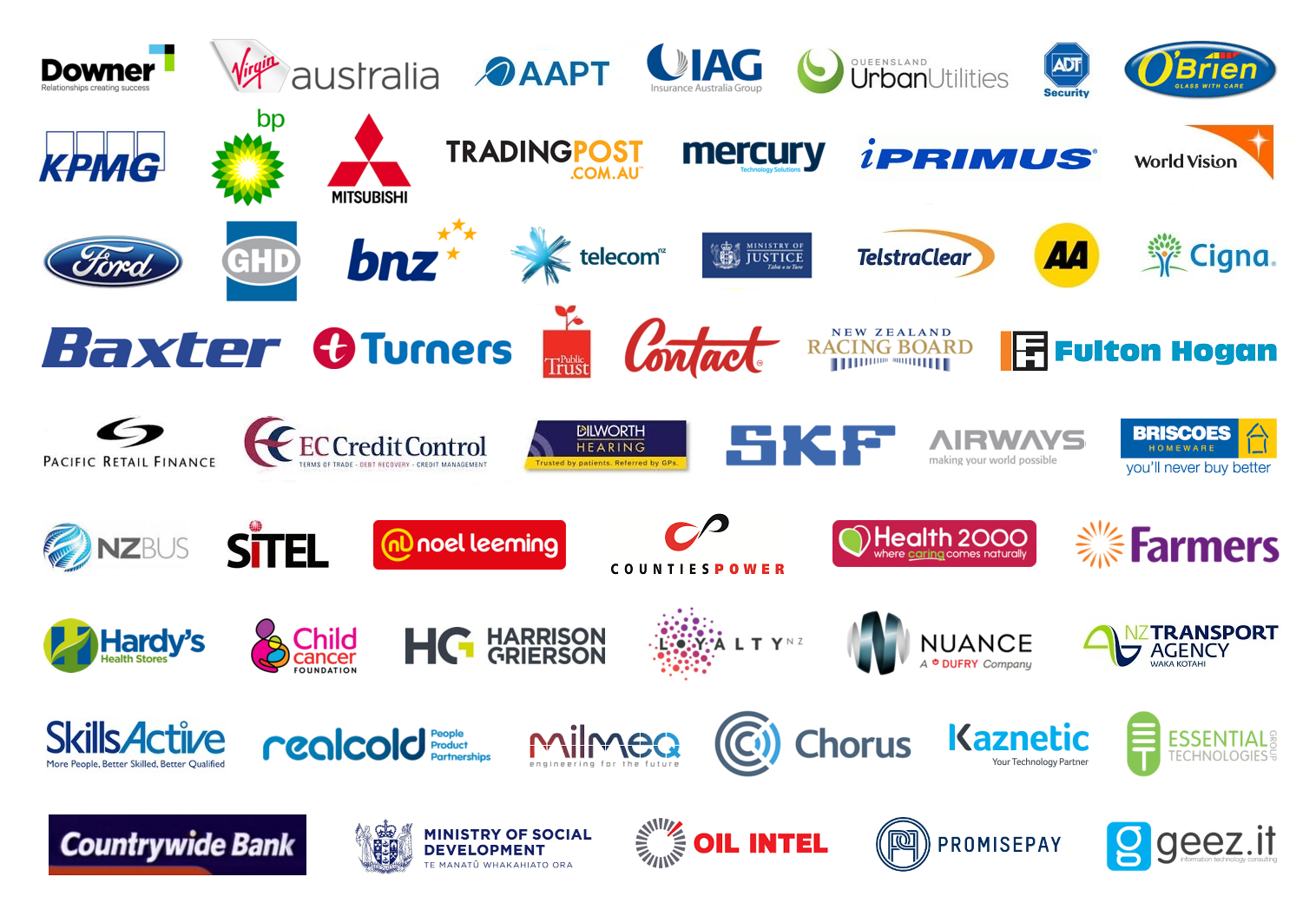 BravaTrak Client logos