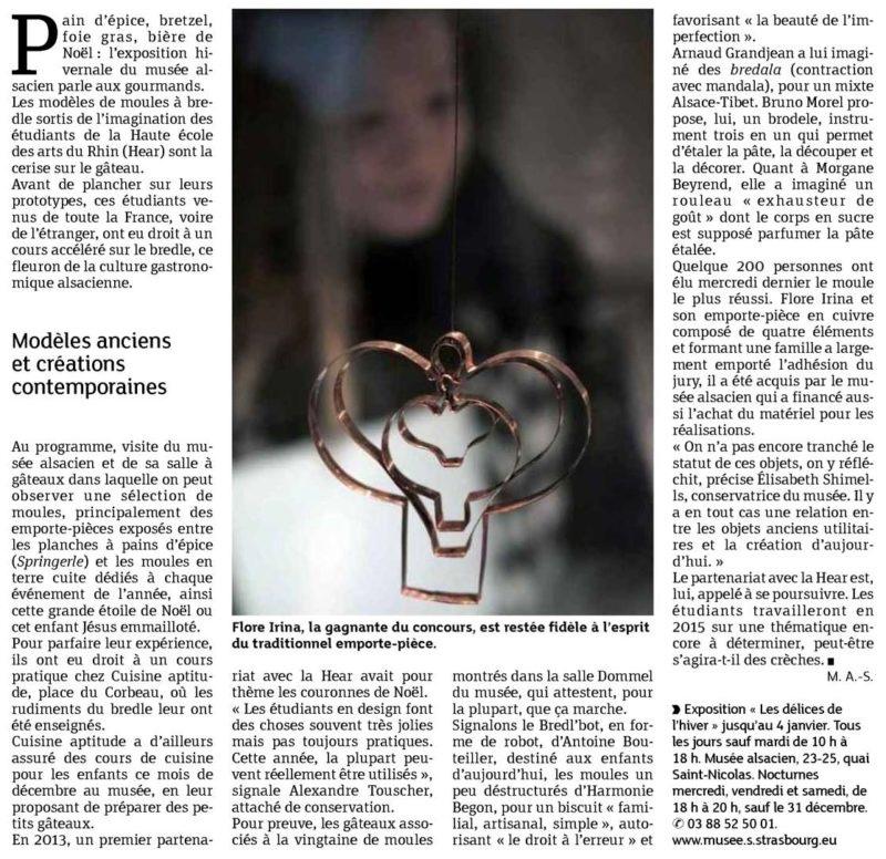 Ensemble c'est tout wins the competition - Article about Ensemble c'est tout in Derniers nouvelles d'Alsace