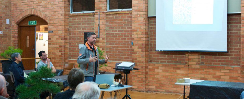Scott talking about maintaining Japanese Black Pines