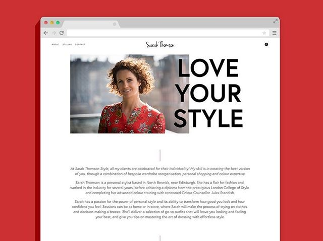 A few updates coming soon – but first, let's start with a throwback to this neat and tidy little site I did for @sarahthomsonstyle back in May. Sarah's fabulous commissioned photography really complimented and added the style to the clean, blank-canvas look on the site, and it really shows off her personality too! www.sarahthomsonstyle.com • • • #webdesign #personalstylist #squarespace #design #graphicdesign #colourpop #ladyinred