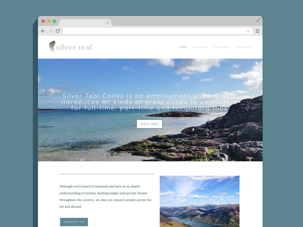 Silver Teal Cooks - Weebly Web Design and Build