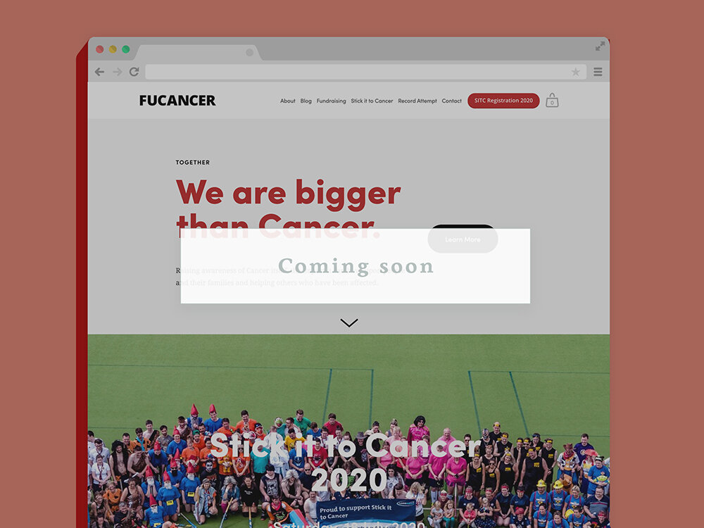 FUCancer website charity Squarespace design and build