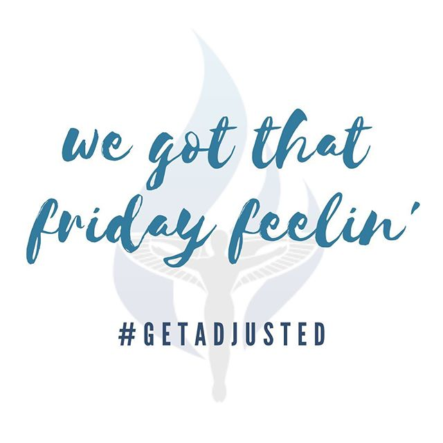 Happy Friday friends!!!! Who is ready for a well adjusted weekend? Cheers to rest and relaxation. ___  And if you have too much fun...we'll be here waiting for you bright and early  Monday morning to help you start the week off right.  #strongspinestrongmind #getadjusted #friyay #mchughchiropractic