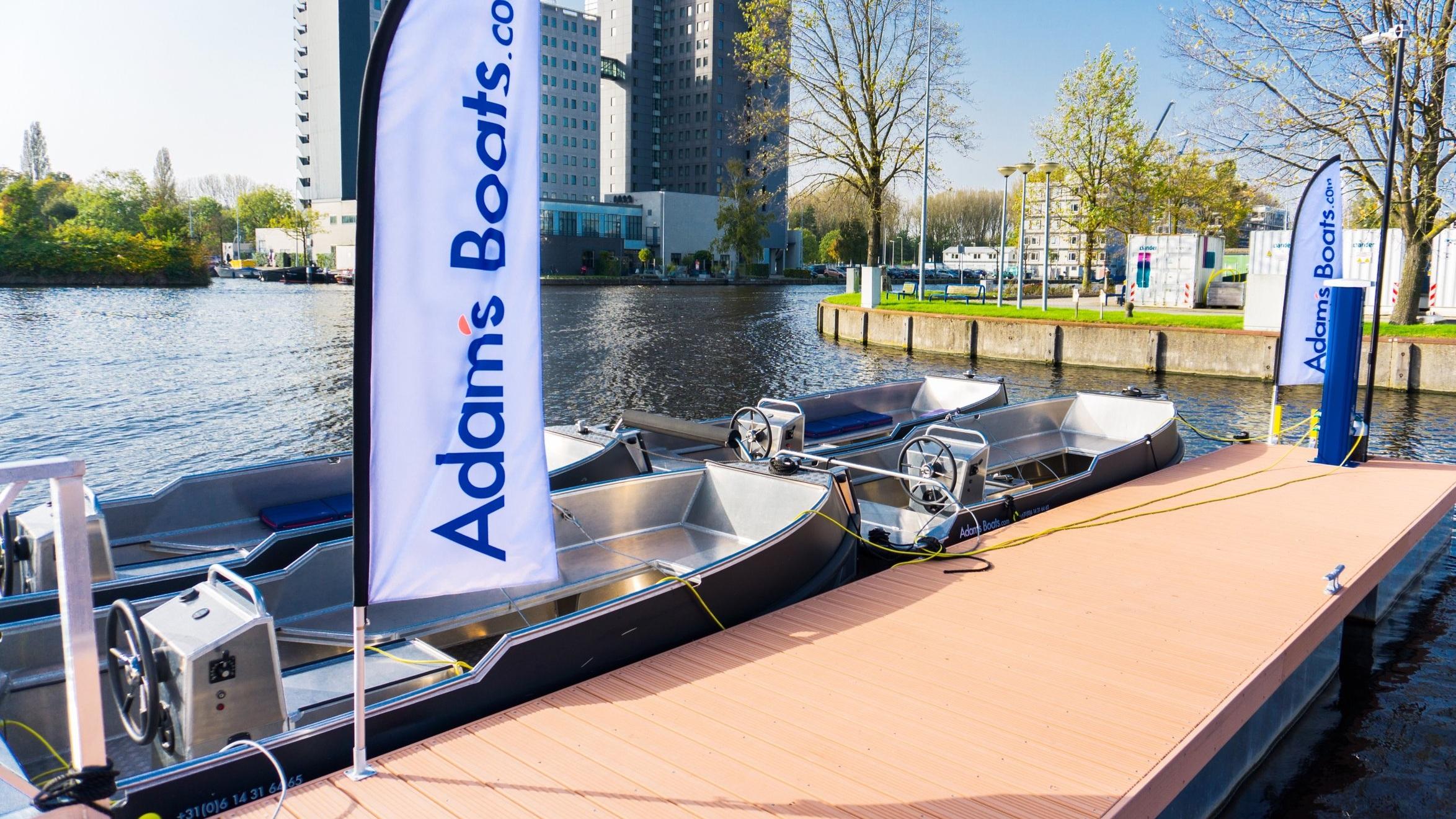 electrische boot huren Amsterdam