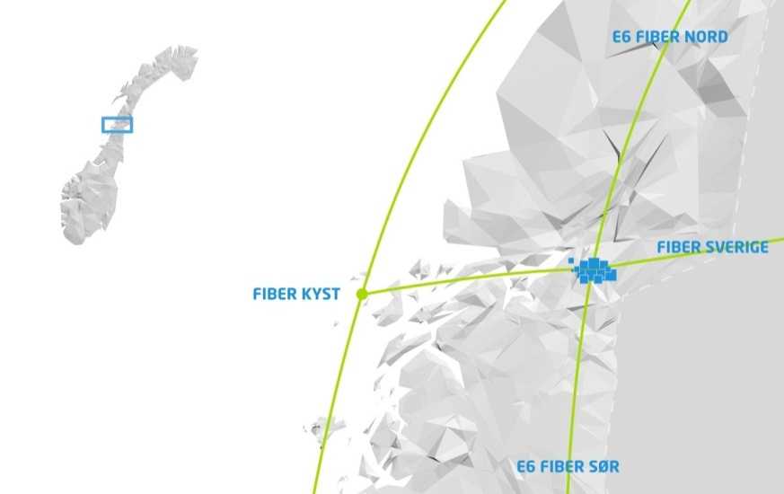Arctic Circle Data Center er strategisk plassert i Mo i Rana - fiberkabler