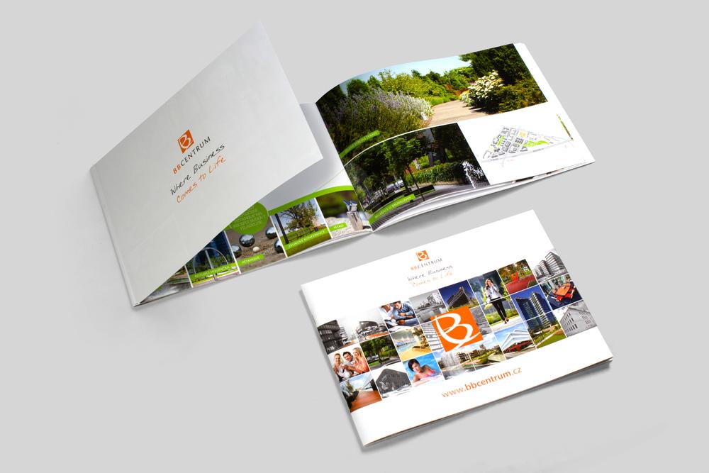 SPECIÁLNÍ PREZENTAČNÍ MATERIÁLY - Reklamní brožura s dvojitou obálkou na šířku, tiskneme extra dlouhé formáty.
