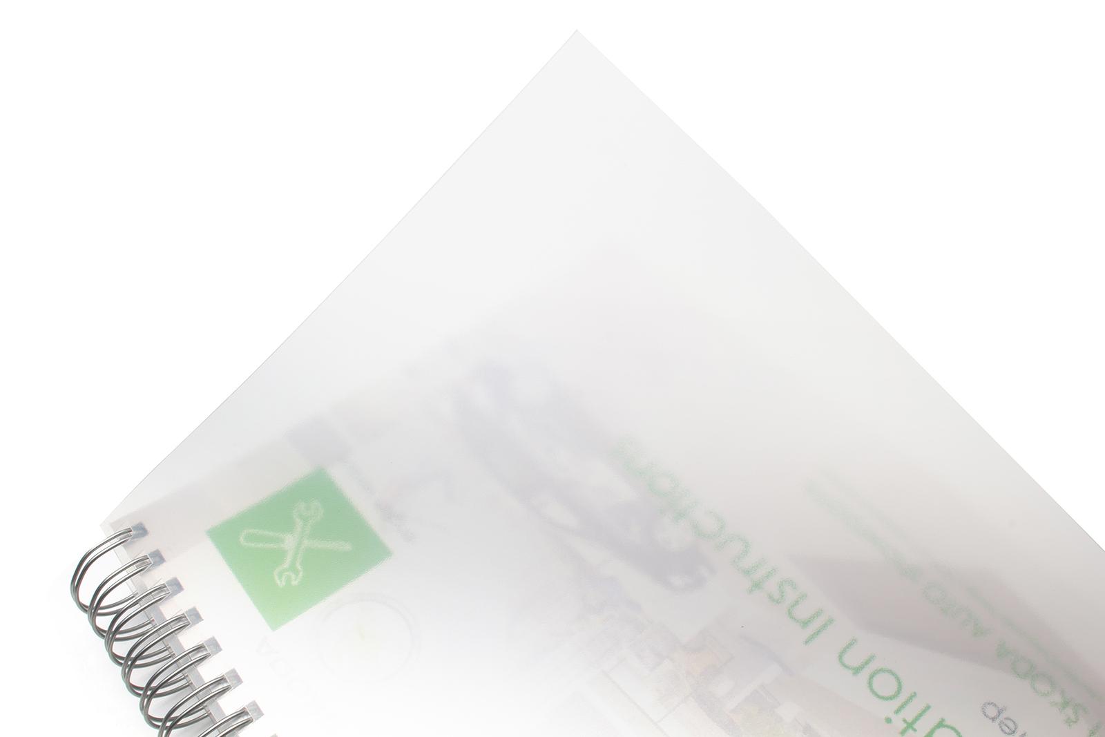 Plastová obálka u TWIN vazby -