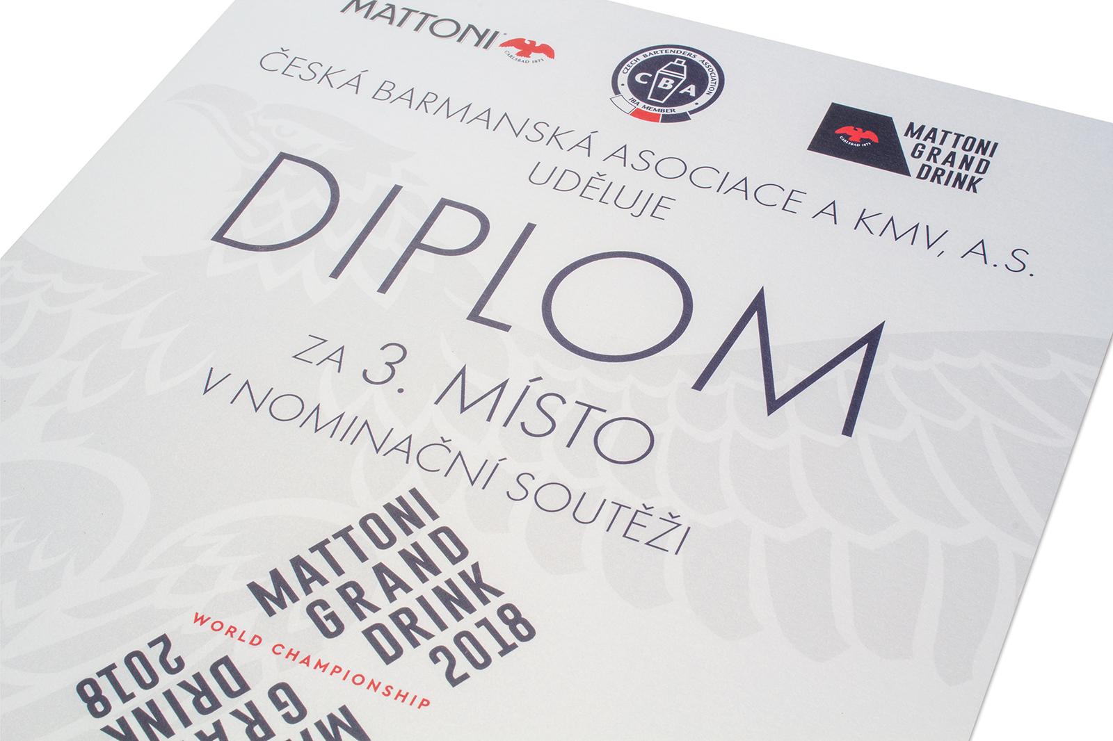 Diplom za umístění -