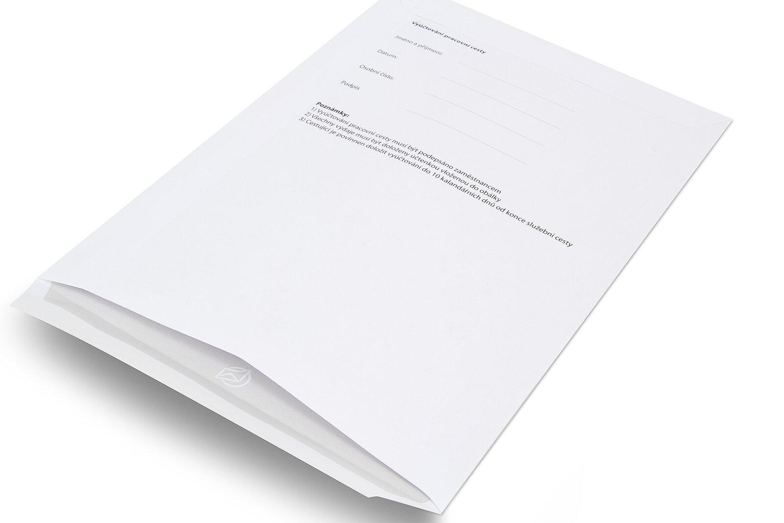 klasické obálky s potiskem na dokumenty -