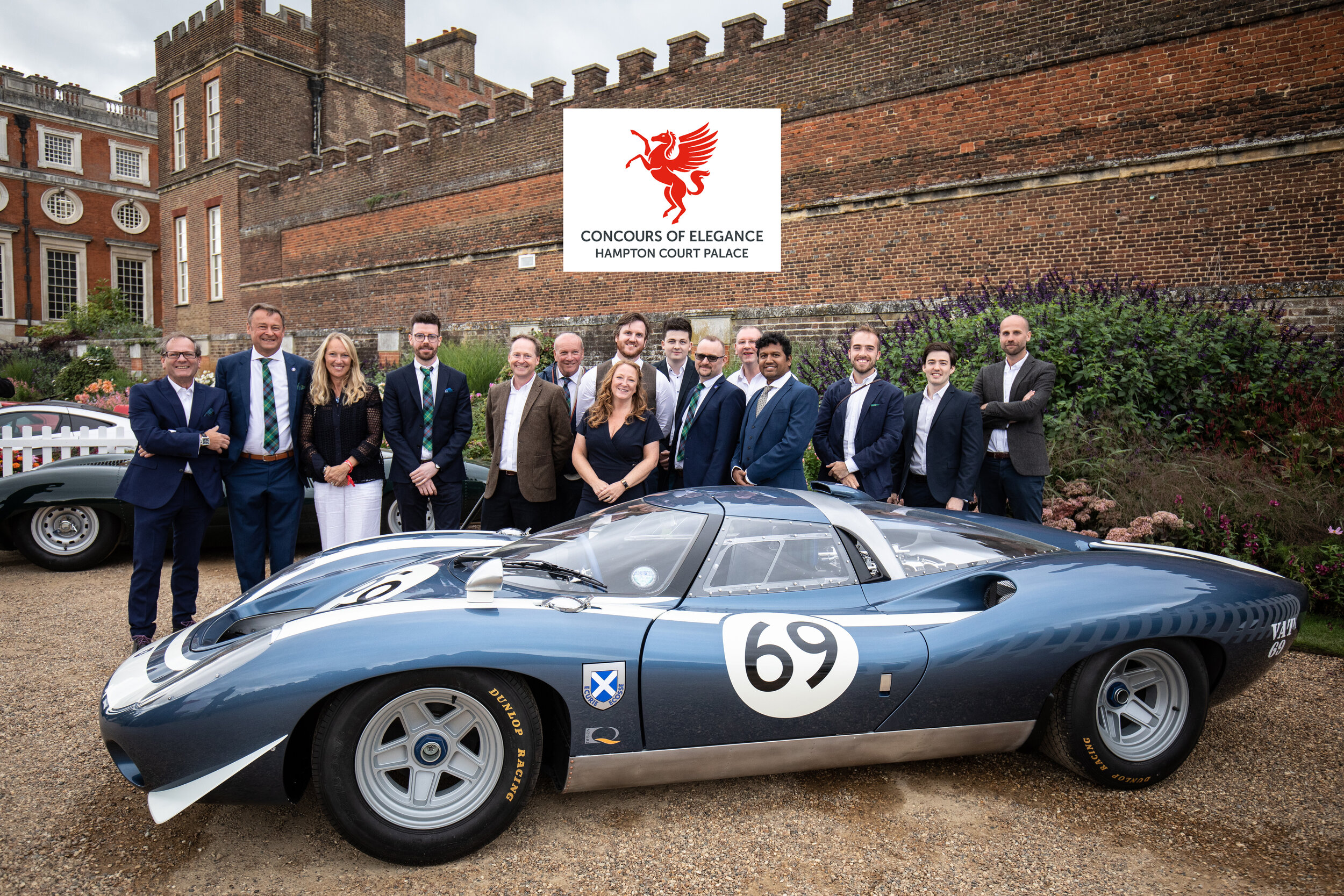 Members of the design, engineering and manufacturing team at the public launch event at Hampton Court, London