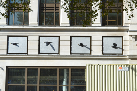 Blackbirds by Kenny Hunter, Leicester Square London