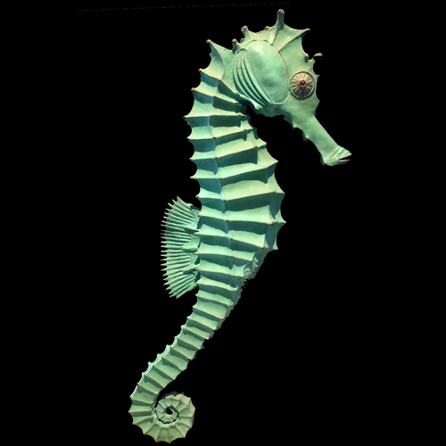Bronze Seahorse by Susan White Oakes