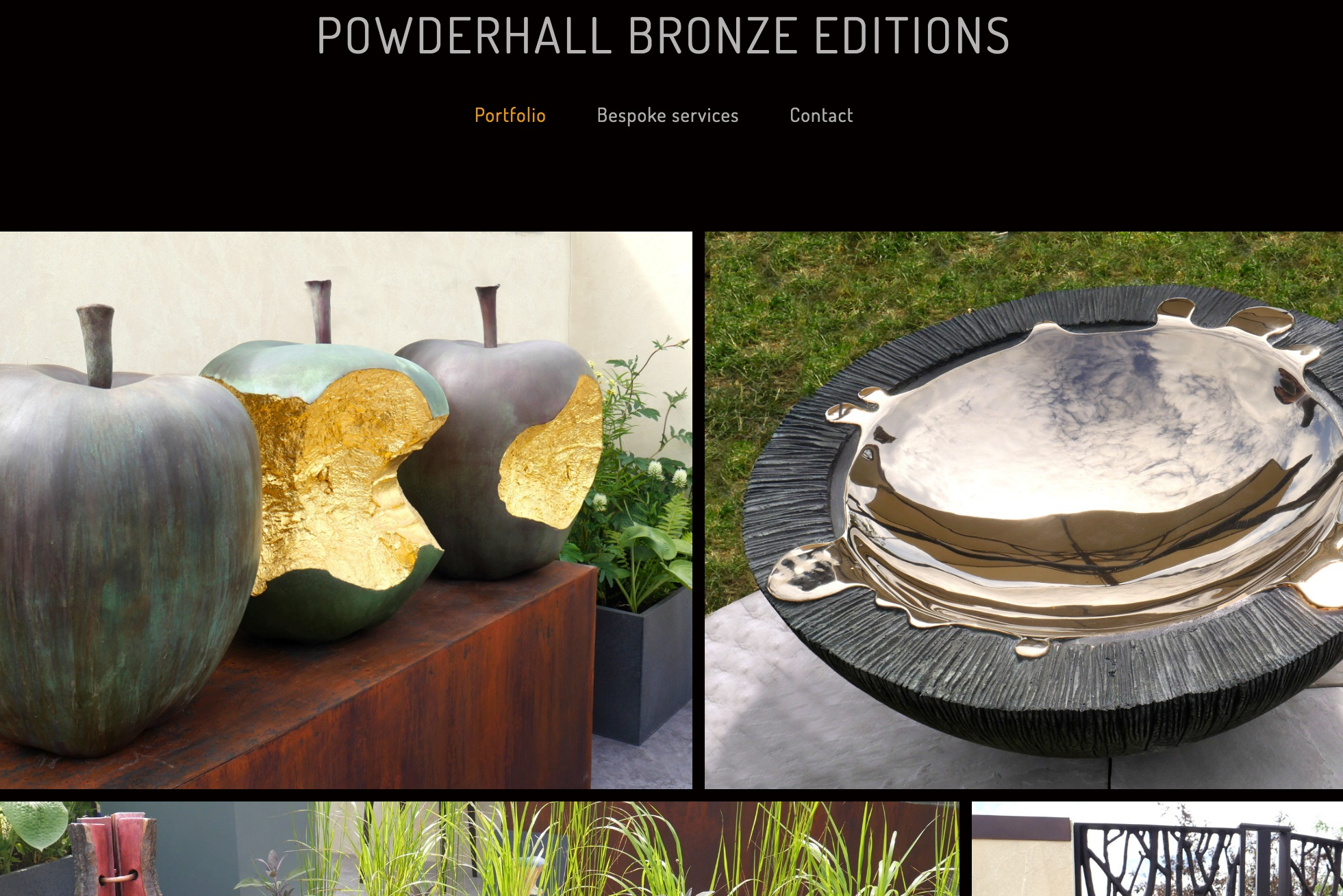 - We are delighted to launch our new Editions Website featuring pieces recently exhibited at Hampton Court Palace Garden Festival!www.powderhallbronzeeditions.co.uk