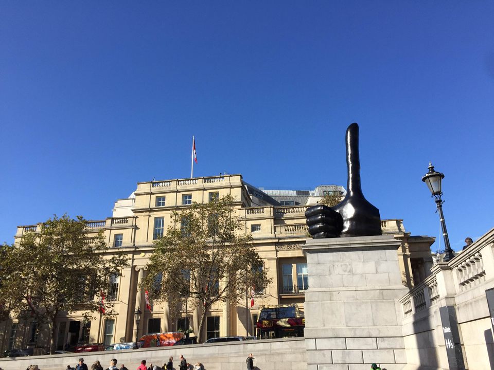 Really Good by David Shrigley, Trafalgar Square London