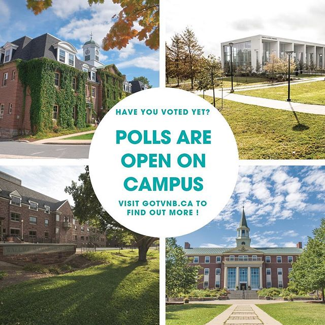 Have you had a chance to vote yet? Polls are on campus today from 9am-7pm and tomorrow 9am-5pm!