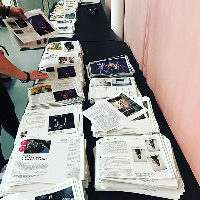A lot of love goes into folding these #limitededition #zines #nyc #publishing ❤️