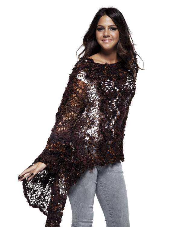 Dazzling Shawl Wrap with Sleeves