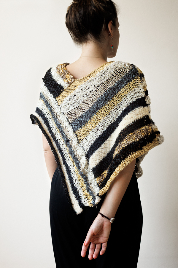 Prato Striped Poncho