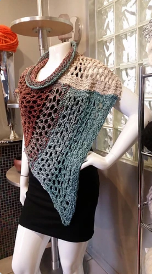 Feza Fishnet Ponchini by StevenBe