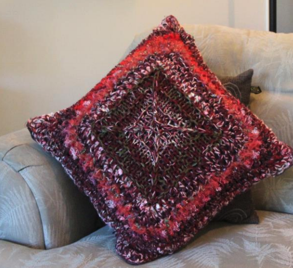 Knit and Crochet Pillow