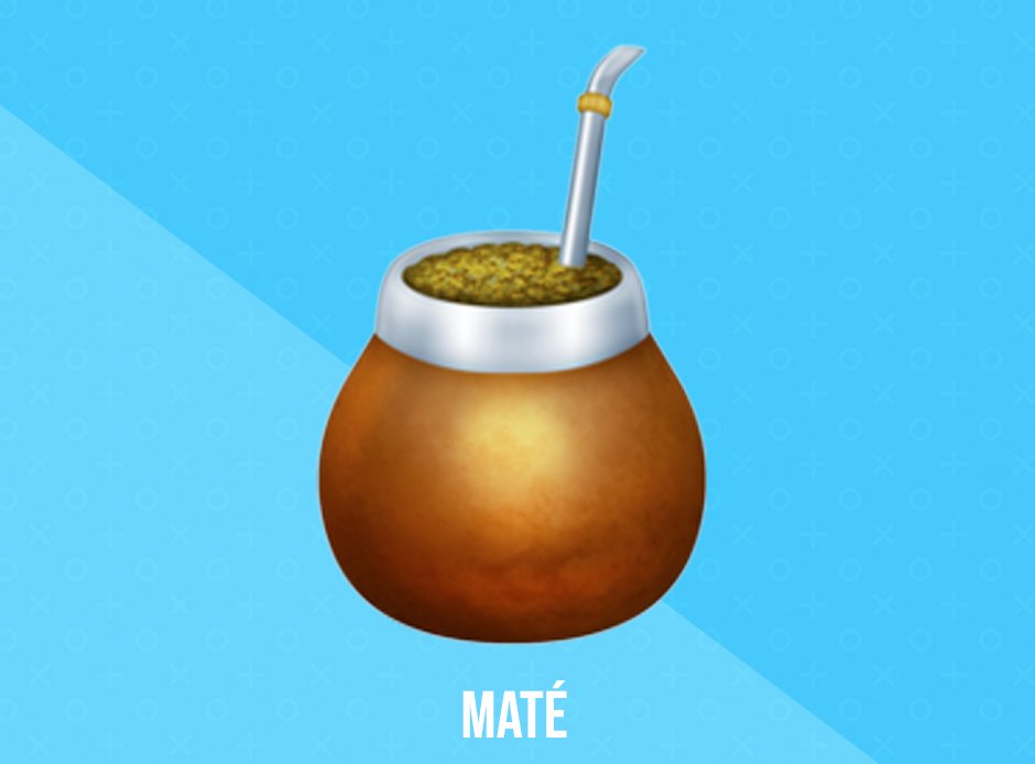 Maté - This year's most anticipated new emoji is Maté, a popular caffeinated beverage. This emoji was chosen as the most anticipated by members of the public voting on Twitter. It will be available on devices in late 2019.