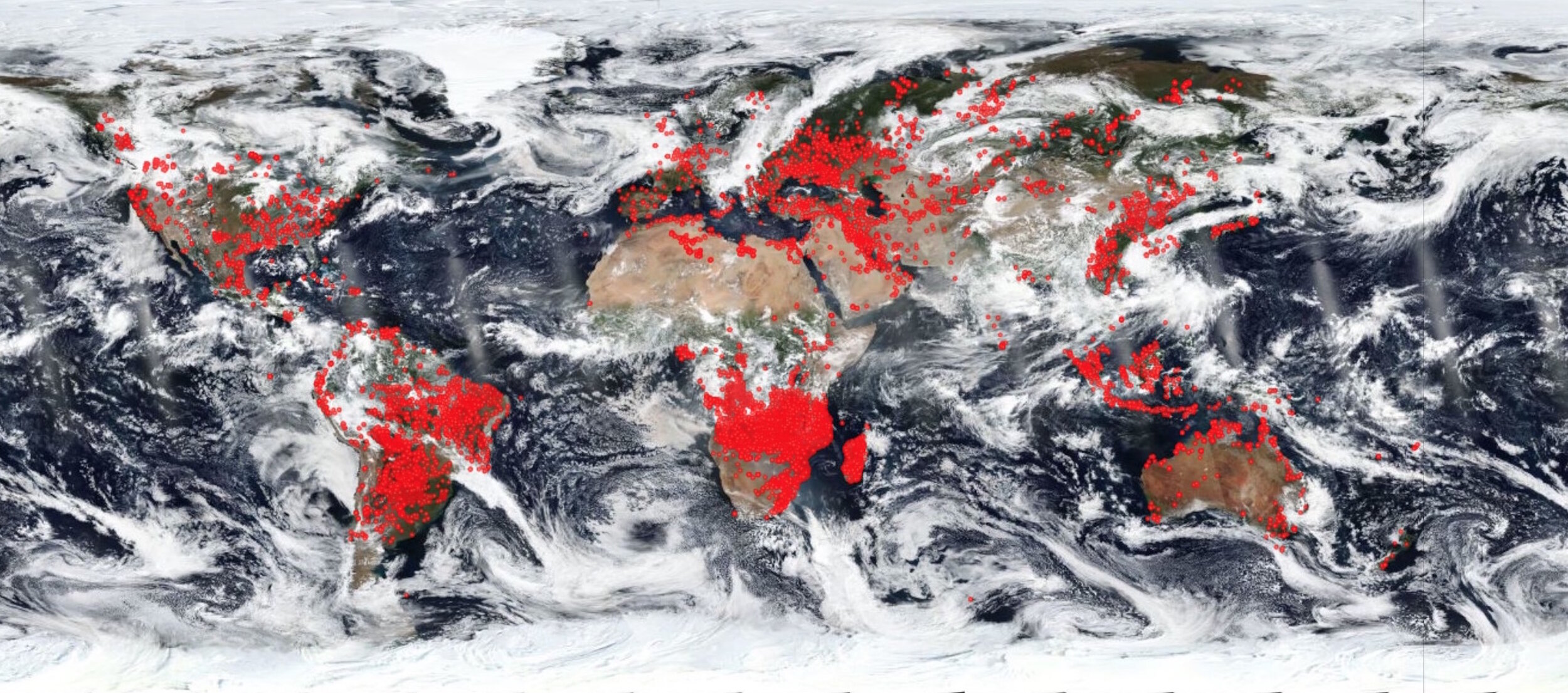A World on Fire, Satellite image of August 26 2018. Image courtesy  NASA EOSDIS Worldview .
