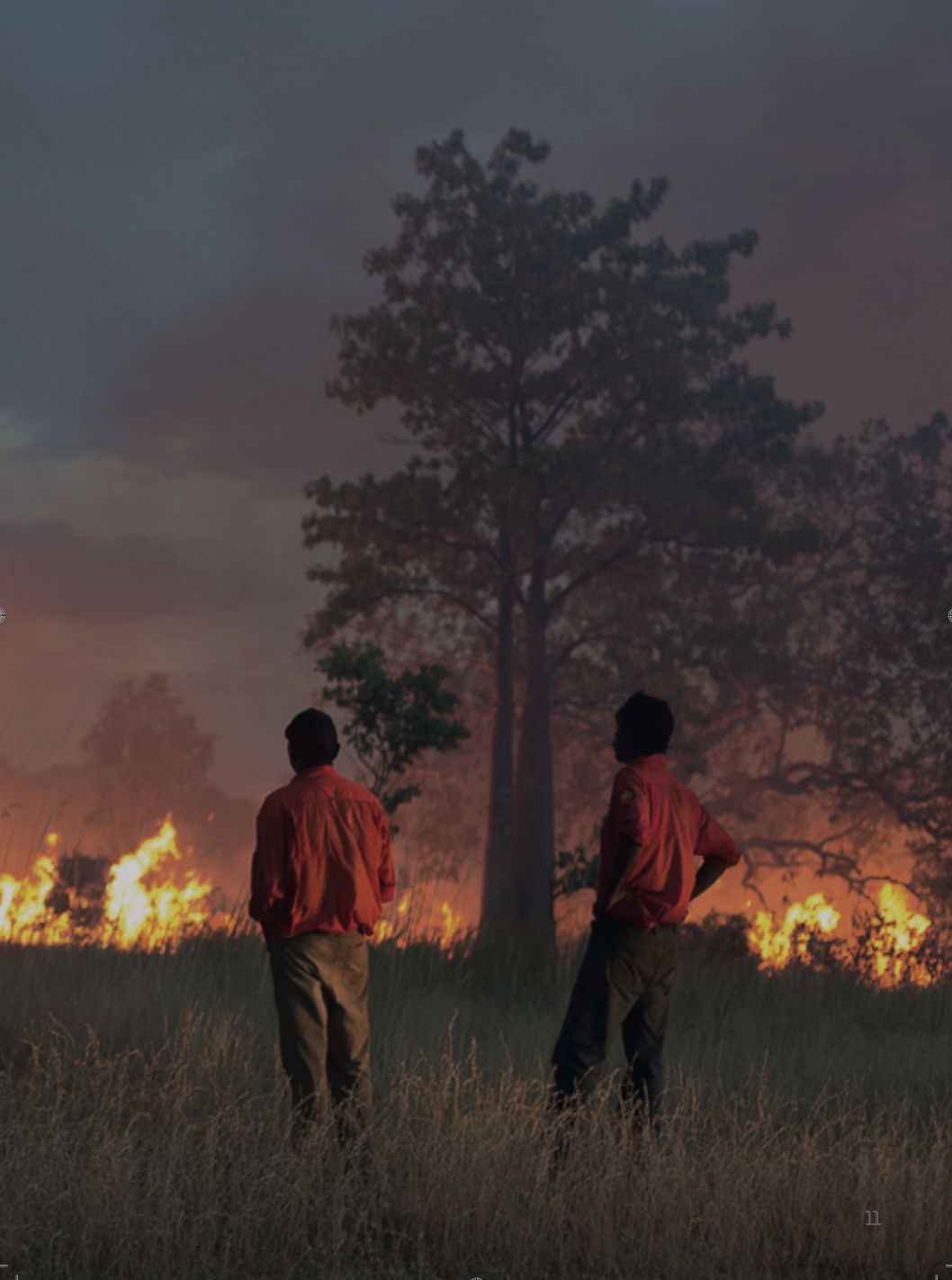 Kija Rangers undertaking burning, Kimberley Region of northern Australia