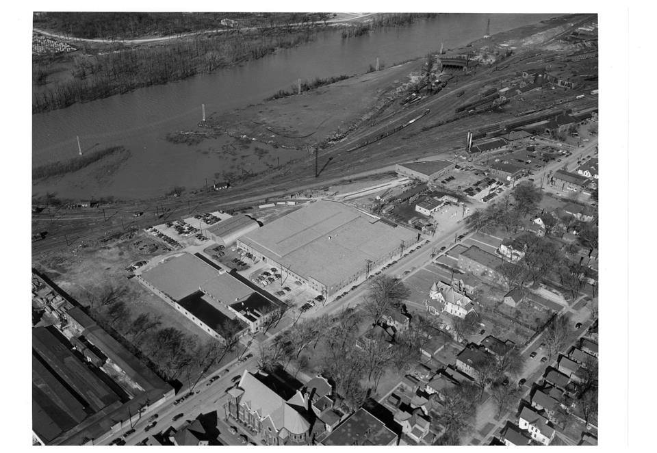 Aerial view of Sacred Heart property, prior to construction of schools (pre-1923).
