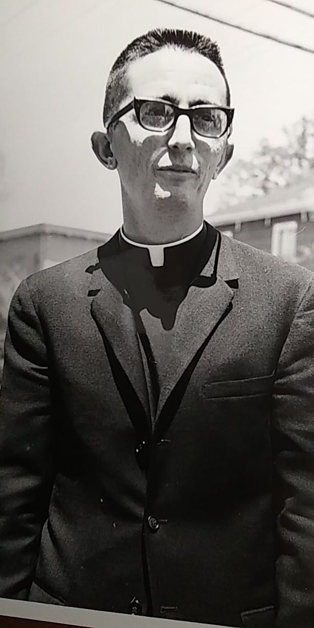 A young Msgr. Paul Showalter, of Sacred Heart Parish, and future Vicar General of our Diocese